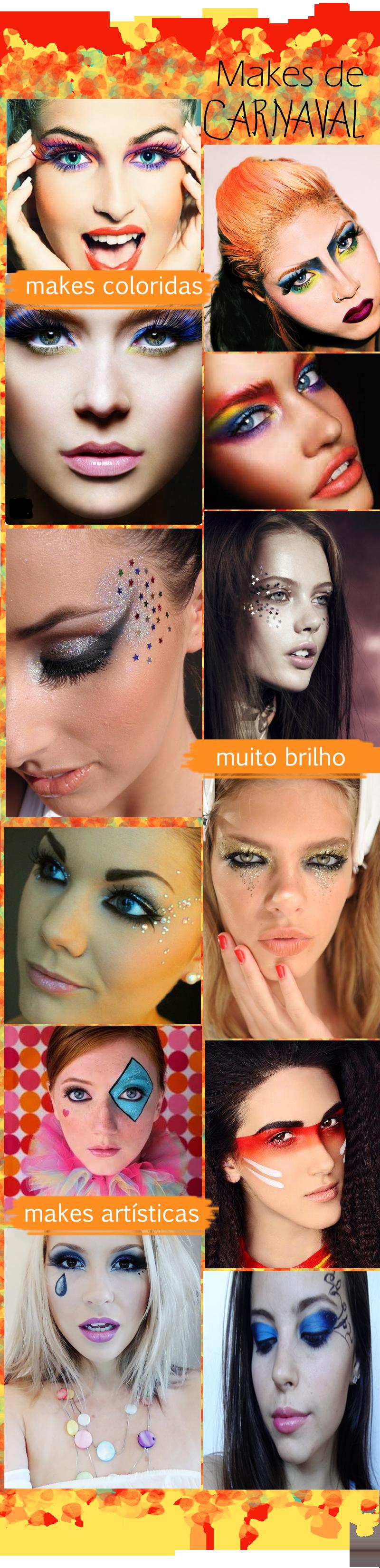 Maquiagens de Carnaval