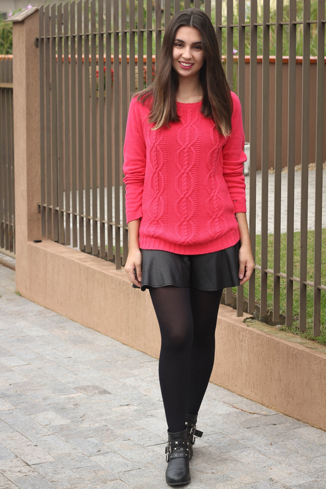 Look do Dia | Tricot Pink | Blá Blá do Dia