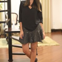 LOOK DO DIA: SAIA PEPLUM COM PAETÊS